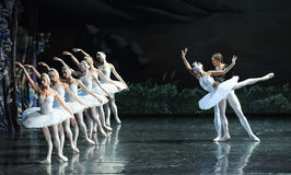 The prince and the Swan love story-ballet Swan Lake. In December 20, 2014, Russia's St Petersburg Ballet Theater in Jiangxi Nanchang performing ballet Swan Lake Stock Photos
