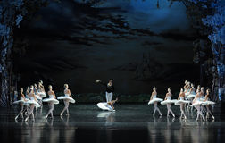The prince swore to love Ojta-ballet Swan Lake. In December 20, 2014, Russia's St Petersburg Ballet Theater in Jiangxi Nanchang performing ballet Swan Lake Royalty Free Stock Image