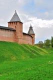 Prince tower and Saviour tower of Veliky Novgorod Kremlin, Russia Stock Photo