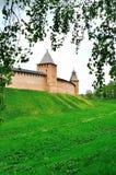 Prince tower and Saviour tower of Veliky Novgorod Kremlin, Russia Stock Photos