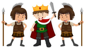 Prince and two knights Stock Photo