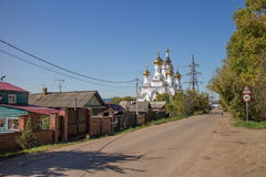 Prince Vladimir's Church in the city of Irkutsk Royalty Free Stock Photography