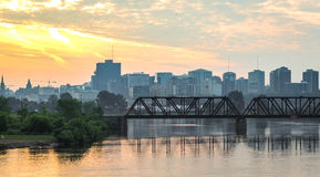 Prince of Wales rail bridge and city scape in the morning. Stock Photography