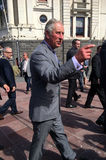 Prince of Wales visit to Auckland New Zealand. AUCKLAND - NOV 08 2015:Prince of Wales (C) arrive at Aotea Square, in Auckland New Zealand for a public walk.He is Stock Images
