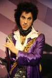 Prince wax statue. Waxwork statue of Prince in the Madame Tussauds Museum from Amsterdam, Netherlands royalty free stock images