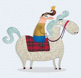 The prince on a white horse Stock Photography