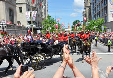 Prince William et Catherine à Ottawa Image stock