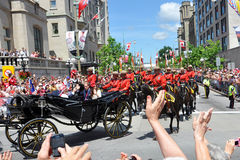 Prince William et Catherine à Ottawa Photos libres de droits