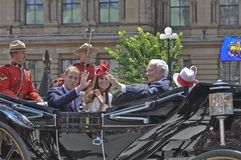Prince William and Kate, Ottawa, Canada Day royalty free stock image