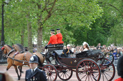 Prince William and Kate Middleton. During Queen Elizabeth's Birthday Parade, on June 16, 2012 in London, England Stock Image