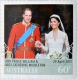 Prince Williams And Kate Middleton Royal Wedding Royalty Free Stock Photography