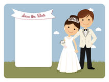 Princely style couple foreground for wedding invitation Royalty Free Stock Photo