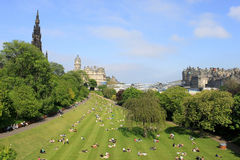Princes Gardens Edinburgh Scotland Stock Image