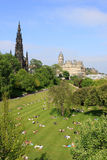 Princes Gardens Edinburgh Scotland Royalty Free Stock Image