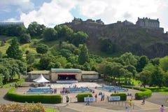 Princes Gata Trädgård, Edinburgh, Skottland royaltyfri foto