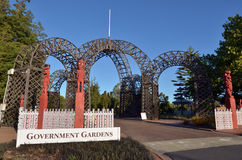 Princes Gate Archway Rotorua  New Zealand Royalty Free Stock Images