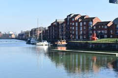 Princes Reach apartments - Preston Riversway docklands royalty free stock images