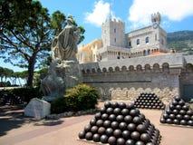 Princes Slott av Monaco Arkivbilder