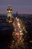 Princes Street, Edimbourg, Ecosse Photos stock