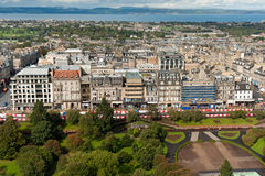 Princes Street from Edinburgh Castle Royalty Free Stock Image