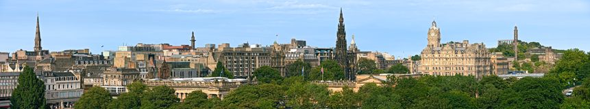 Princes Street, Edinburgh, Scotland, panorama Stock Photography