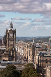Princes Street. Edinburgh - Scotland - UK Royalty Free Stock Photography