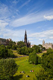 Princes Street Gardens in Edinburgh Royalty Free Stock Images
