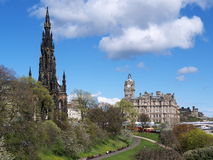 Princes Street Gardens, Edinburgh, Scotland Royalty Free Stock Image
