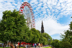 Princes Street Gardens in Edinburgh, Scotland Royalty Free Stock Photos
