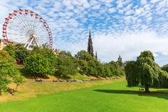 Princes Street Gardens in Edinburgh, Scotland Stock Photography