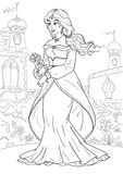 Princesa árabe ilustração royalty free