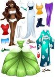 Princesa afroamericana Dress Up de la muchacha Imagen de archivo