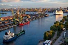 Princesa Anastasia da balsa do cruzeiro no porto de St Petersburg Fotografia de Stock Royalty Free