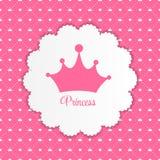 Princesa Background con vector de la corona Imagen de archivo libre de regalías