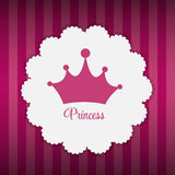 Princesa Background con vector de la corona Fotos de archivo libres de regalías