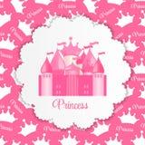 Princesa Background con vector del castillo Foto de archivo