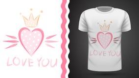 Princesa bonito - ideia para o t-shirt da cópia ilustração royalty free