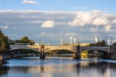 Princesa Bridge em Melbourne no crepúsculo Foto de Stock Royalty Free
