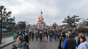 Princesa Castle de DISNEYLÂNDIA PARIS Fotografia de Stock