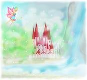 Princesa Castle del cuento de hadas Imagen de archivo libre de regalías