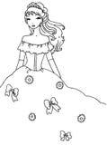 Princesa Coloring Page Foto de archivo