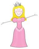 Princesa cor-de-rosa ilustração do vetor