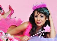 Princesa cor-de-rosa do cabaré imagem de stock