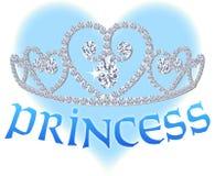 Princesa Coração Tiara Fotos de Stock Royalty Free