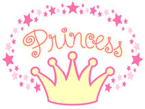 Princesa Coroa ilustração stock