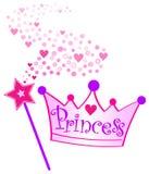 Princesa Coroa e Scepter Fotografia de Stock