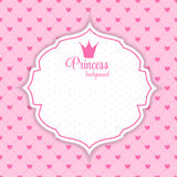 Princesa Crown Background Vector Illustration Imágenes de archivo libres de regalías