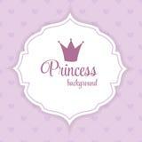 Princesa Crown Fundo Vetor Ilustração ilustração stock