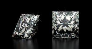 Princesa Cut Diamond Imagen de archivo libre de regalías