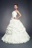 Princesa da menina no vestido de bola branco Imagem de Stock